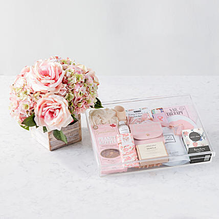 Mothers Day Diana Faux Flowers And Spa Hamper