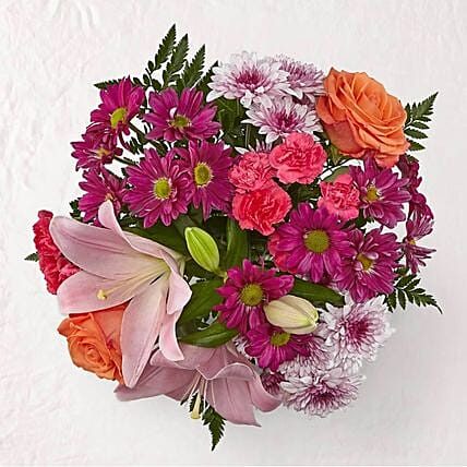 Blissful Mixed Flowers Bouquet