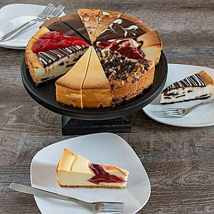 Fathers Day Assorted Flavour Cheesecake:Gifts for Father in USA