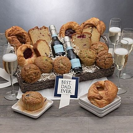 Fathers Day Champagne And Assorted Muffin Hamper