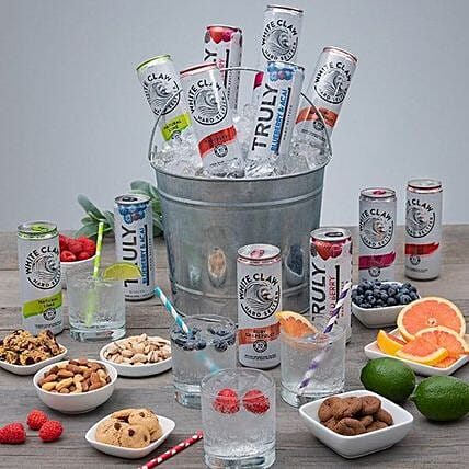 Happy Fathers Day Hard Seltzer And Dry Fruits Hamper