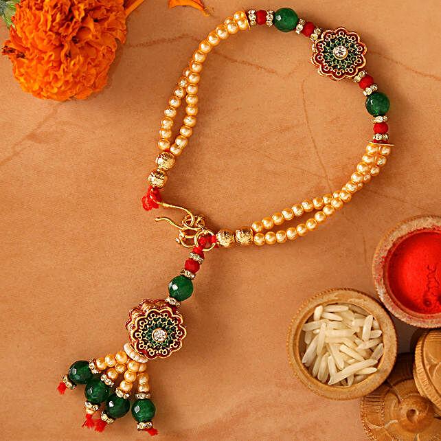 American Diamond Bracelet Style Rakhi