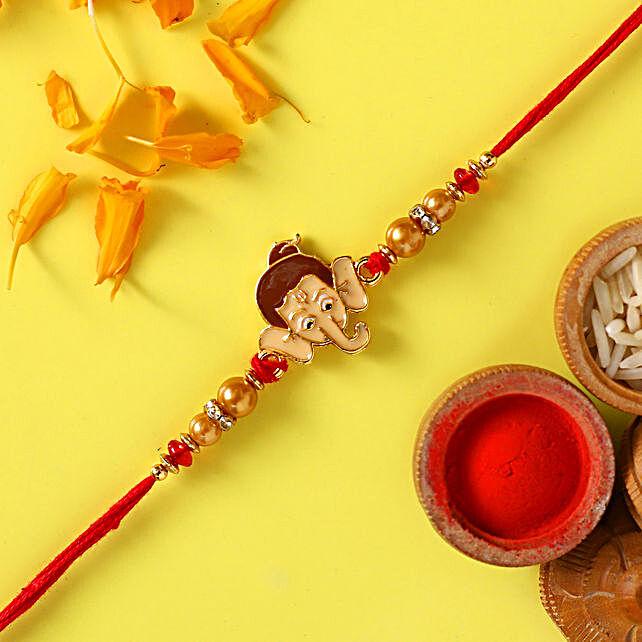 Bal Ganesha Pearl Rakhi For Kids