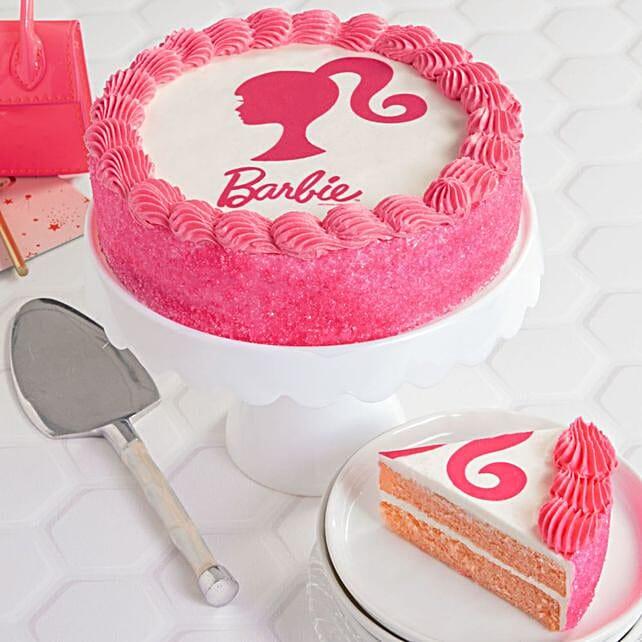 Barbie Theme Strawberry Cake
