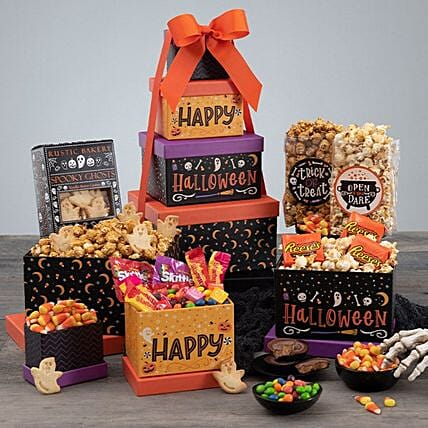 Haunted Halloween Gift Tower:Send Halloween Gifts to USA