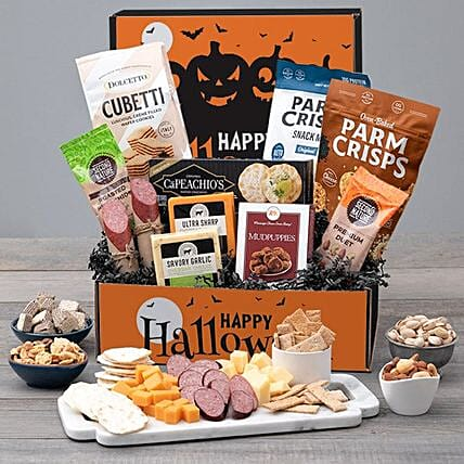 Haunted Halloween Meat And Cheese Package:Send Halloween Gifts to USA