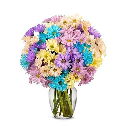 Heavenly Mixed Flowers Vase:Send Mixed Flowers to USA