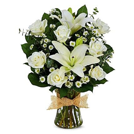 Soothing Mixed Flowers Vase