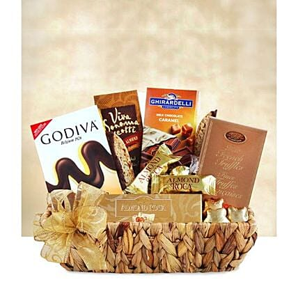 Golden Chocolate Gift Tray