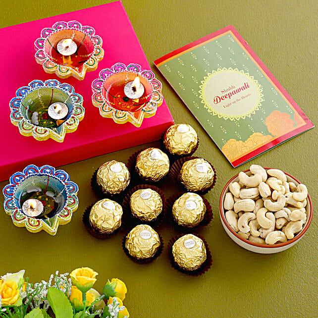 Diwali Greetings With Chocolates And Cashews