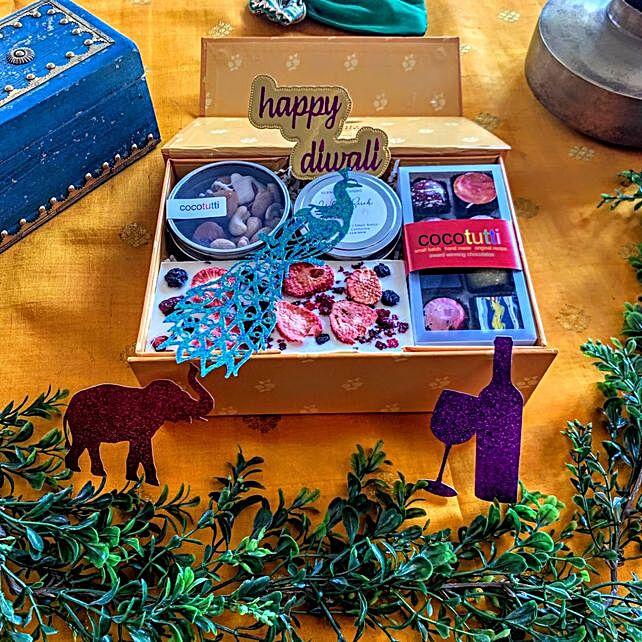 Diwali Greetings Chocolates Nuts And Dried Fruit Hamper