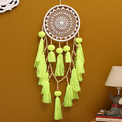 Yellow Ethereal Ring Dreamcatcher