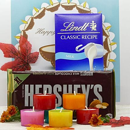 Yummy Chocolates And Scented Candles Combo