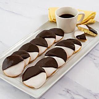 One Dozen Black And White Cookies