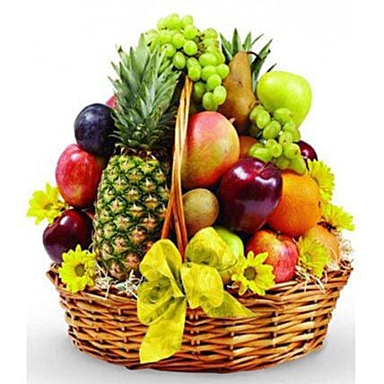 Basket Of Tasty Fruits