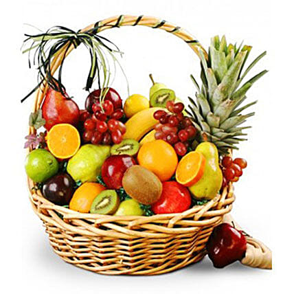 Farm Fresh Fruits In Basket