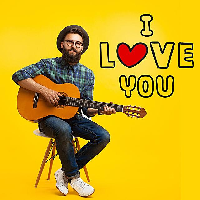 I Love You Romantic Tunes:Guitarist On Video Call In Vietnam