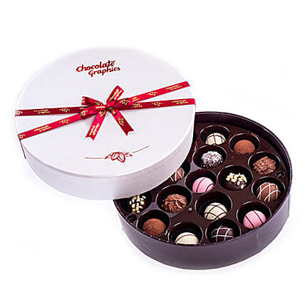 Round Box Of Yummy Chocolates